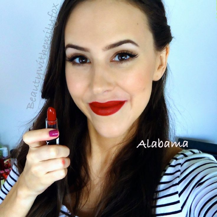 NYX Matte Lipstick - Lip Swatch Alabama | Youtube Channel ...