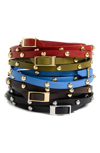 Cara Accessories Leather & Metal Stud Wrap BraceletAccessories Leather, Cara Accessories, Accessories Accessories, Leather Wrap Bracelets, Metals Studs, Jewelry, Studs Wraps, Leather Wraps Bracelets, Leather Bracelets
