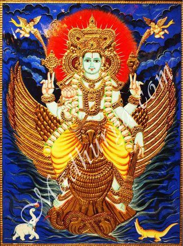 Vishnu Tanjore Painting a Beautiful art . #tanjorepaintings, #tanjorepainting, #tanjorepaintingsonline, #tanjorepaintingsonlineshopping, #tanjorepaintingonline, #VishnuTanjorepainting, #Krishnaitanjorepaintings