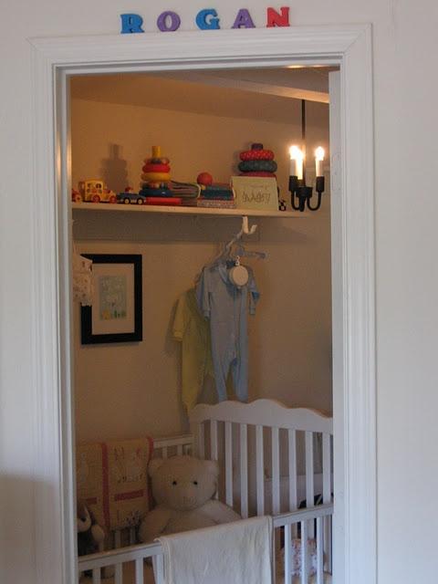 Nursery closet layout : Walk-in closet nursery baby