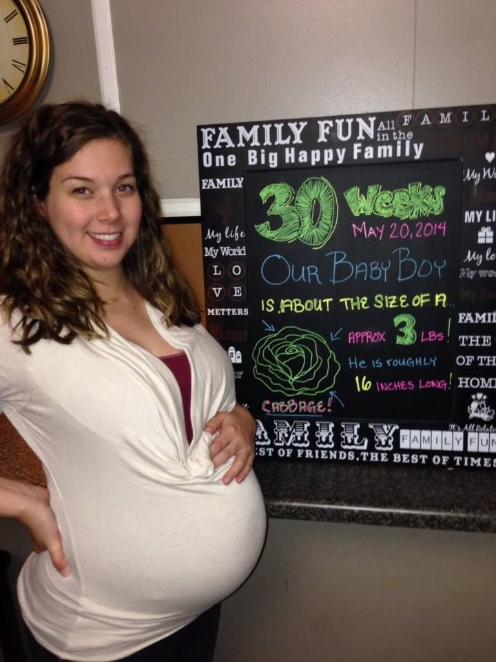30 Weeks Pregnant Baby Is The Size Of A Head Of Cabbage