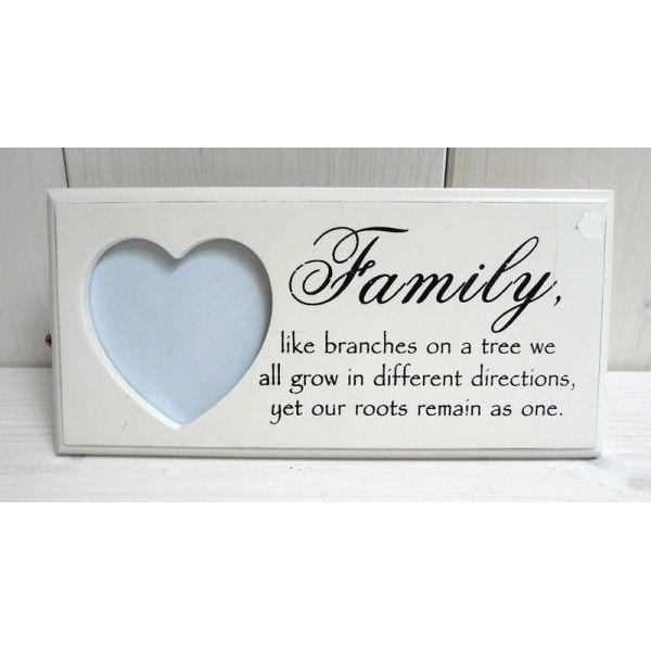 Rámeček family se srdcem
