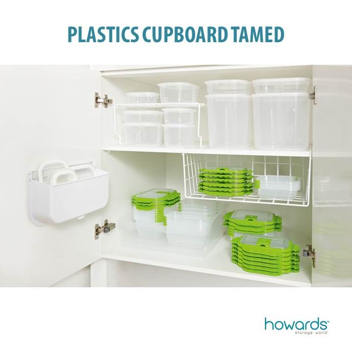 Lids on or Lids off? Whatever your organising style, Howards can help! If you like your lids off, then choose containers that nest well and keep the lids tidy in a door organiser or under shelf rack. If you prefer lids on, again the secret is to have the same style of container neatly stacked. See the full story in the Howards January 14 catalogue. Featuring HomeLeisure's Trend Lid Tidy.