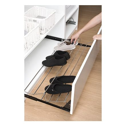 Bricor zapatero extraible decoraci n pinterest for Interior armario zapatero
