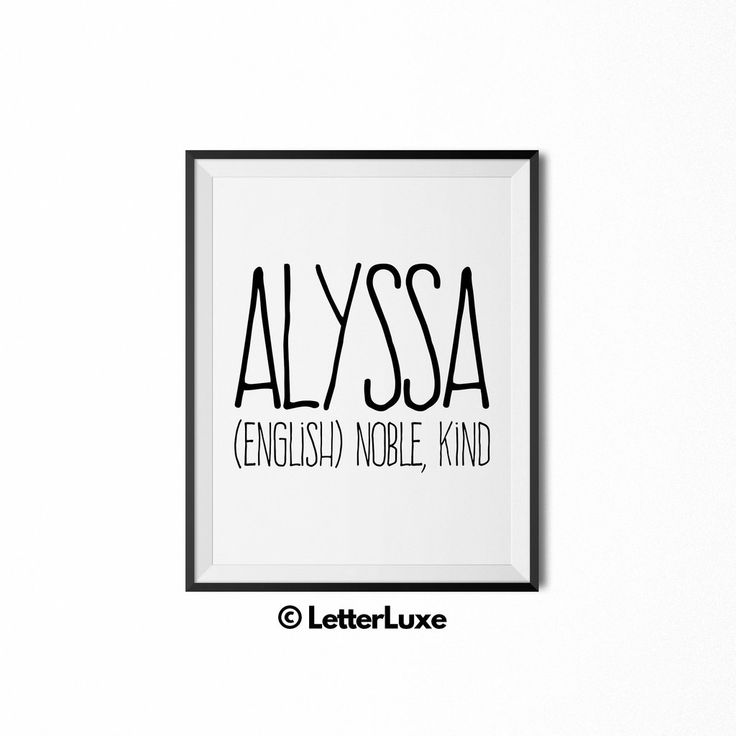 30 best last minute gift ideas for girls images on pinterest alyssa baby name art new baby gift name meaning print by letterluxe letterluxe negle Image collections