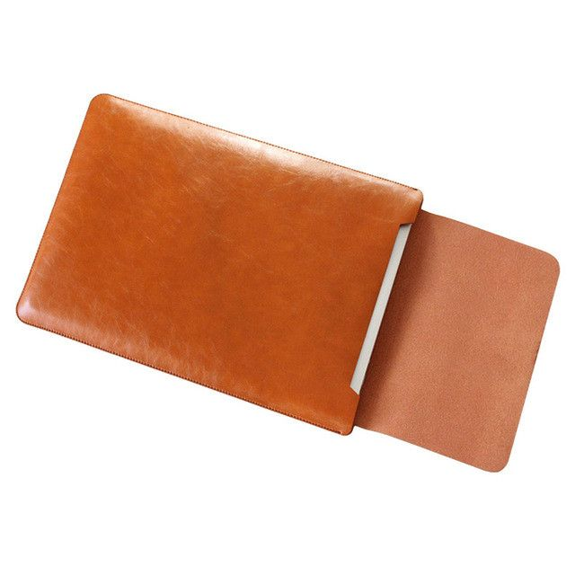 PU Leather Laptop Bag for macbook air 13 11 pro 13 15 12 laptop case notebook bag computer bag For Macbook Case Pouch