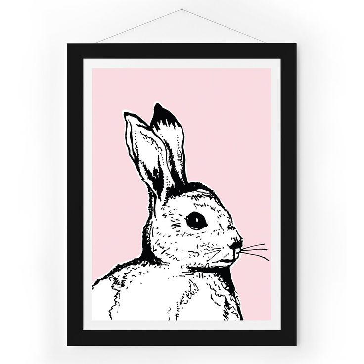 Pink Bunny Print | Art Prints | Homeware - Me and My Trend