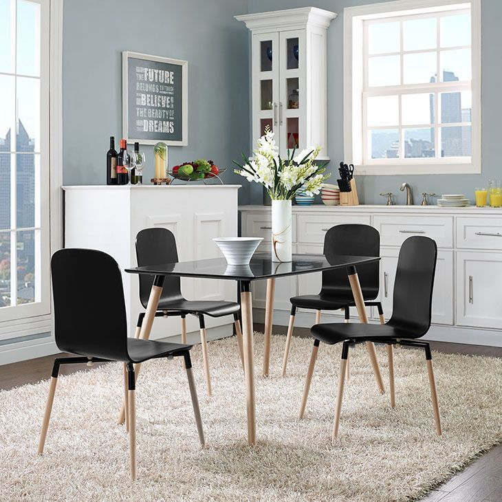 stack dining chairs and table set of 5 in black black acquaint yourself with