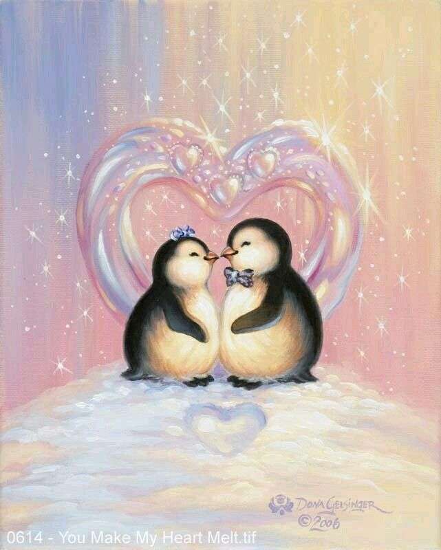 Kissing penguins