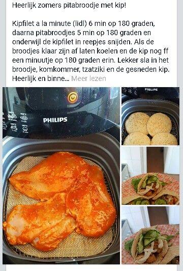 AIRFRYER:  Zomerse pita met kip!
