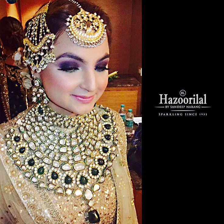 Revelling for her family wedding in fine jewellery from the House of #HazoorilalBySandeepNarang  #Hazoorilal #ClientDiaries #BridalLooks2016 #Polki #UncutDiamonds #Emeralds #IndianWeddings #BigFatWeddings #BridesHazoorilalBySandeepNarang #ItcMaurya #DlfEmporio #HazoorilalJewellers
