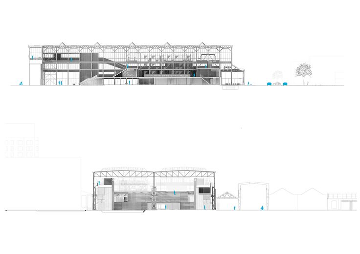 CIVIC architects - Public Library - Tilburg | Sections