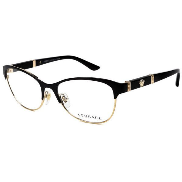Versace VE1233Q 1366 Eyeglasses (275 BAM) ❤ liked on Polyvore featuring accessories, eyewear, eyeglasses, versace eyewear, lens glasses, versace eyeglasses, versace glasses and versace eye glasses