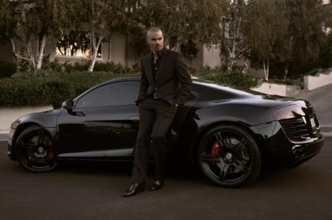 Shemar Moore Posing With His Audi R8 Baby Daddy