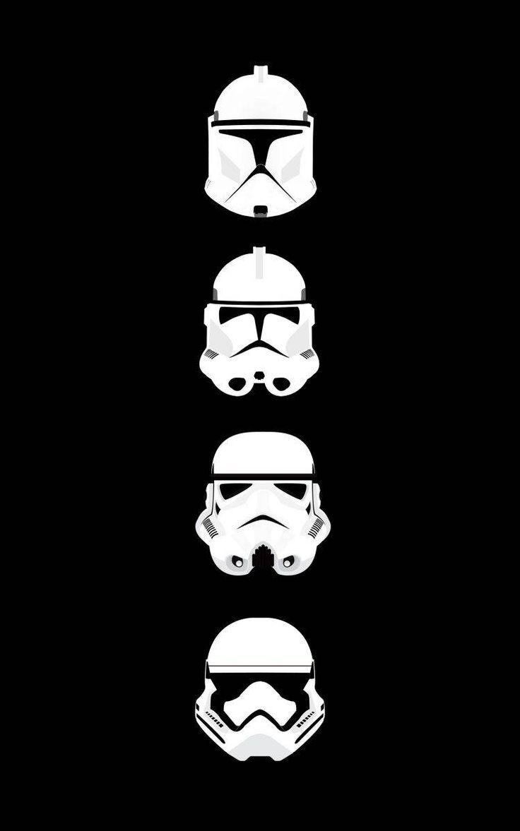 Star Wars Clone Trooper Stormtrooper Helmet Minimalism Portrait