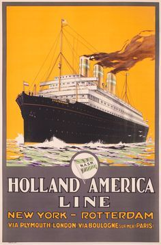 Holland America Line ~ A. Gronholdt | #Shipping #Holland #America