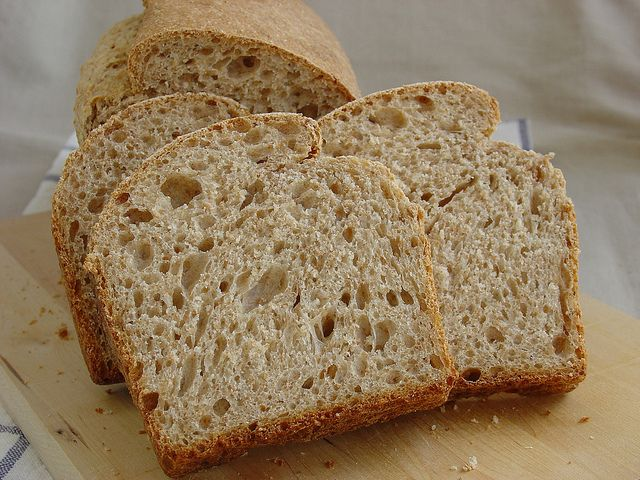Pan de molde integral con levadura natural