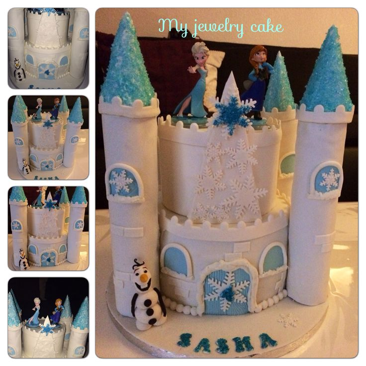 chateau reine des neiges gateau petite fille cake design birthday cake princess castle. Black Bedroom Furniture Sets. Home Design Ideas
