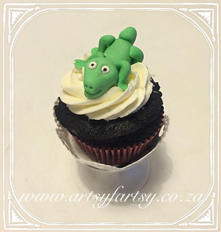 Lizard Cupcake #lizardcupcake
