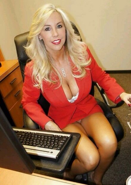 image Blonde accountant with hot body fucks 14 inch black cock