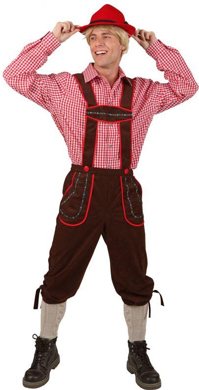 Costume tradizionale bavarese uomo pantalone marrone