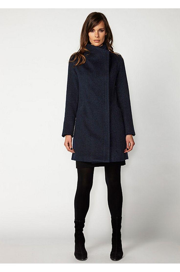 Very Very - Karlie Velvet Asymmetrical Zip Coat