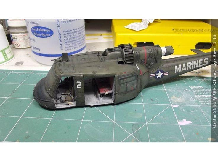 UH-1C Huey Hog - Revell 1/48 - Artur Barbosa - Portas coladas!