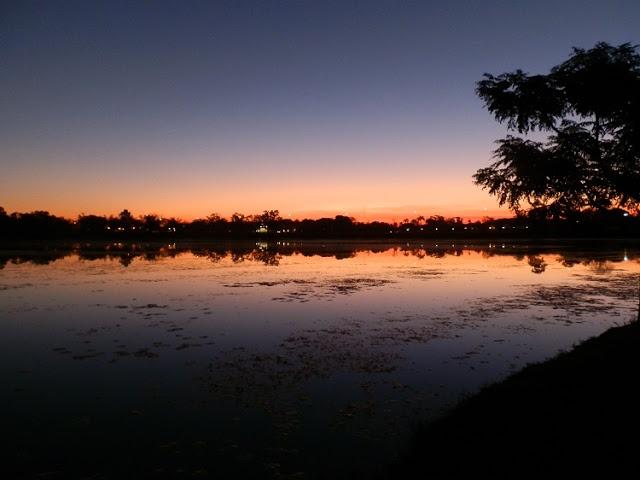 #Sunset view from campsite over Lily Lagoon, Kununurra Lakeview Resort & Caravan Park, Western #Australia