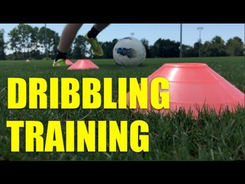 At Home Soccer Training Drills: How to improve soccer dribbling skills - YouTube