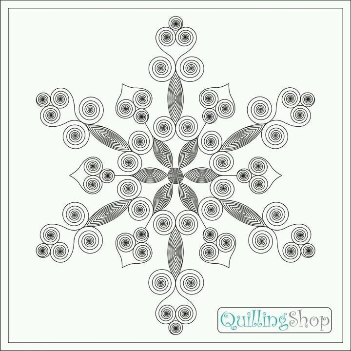 Snowflakes pattern quilling and paper flower tutorials for Quilling patterns for beginners