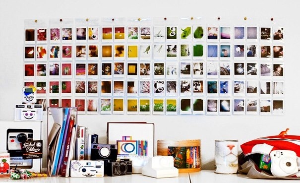 Mais uma idéia para usar suas fotos do instagram para montar um belo painel.     Via Photojojo.Tumblr