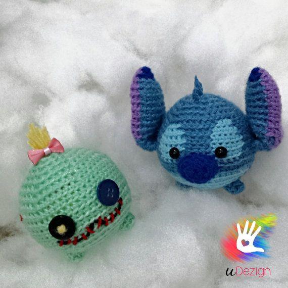 Handmade Tsum Tsum Amigurumi dolls by uDezignCrafts on Etsy