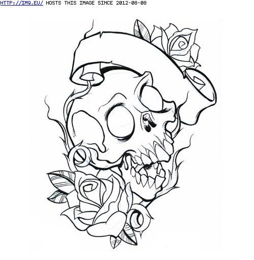 rose and skull and banner skull tattoos pinterest tattoo roses skulls and drawings