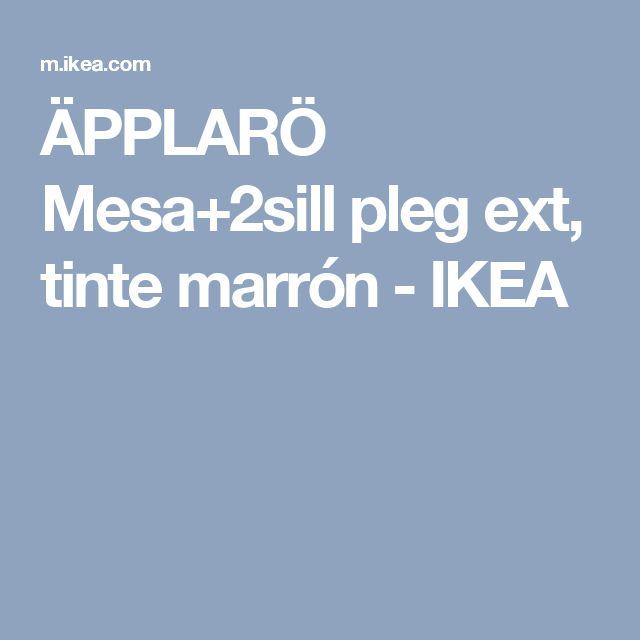 ÄPPLARÖ Mesa+2sill pleg ext, tinte marrón - IKEA