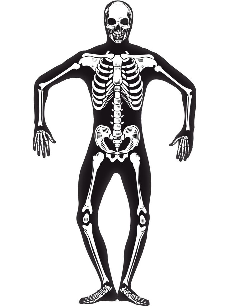 Men's Skeleton Second Skin Costume