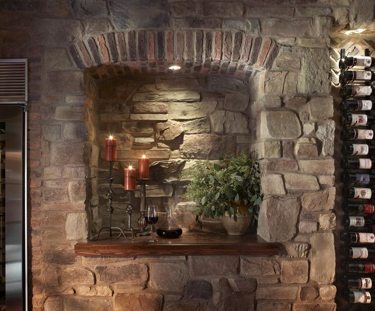 Charming Eldorado Stone   Imagine   Before And After   The VinoWall