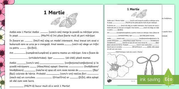 Despre mărțișoare, scriem corect Fișă de lucru - Spring, primăvară, fișă de lucru, limba română, ortograme, corect, scriem corect, romanian, ma