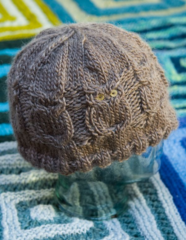 How To Knit A Baby Owl Hat Up