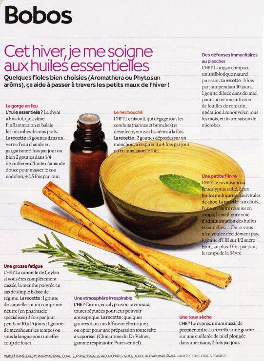 Se soigner aux huiles essentielles en hiver, très utile !!