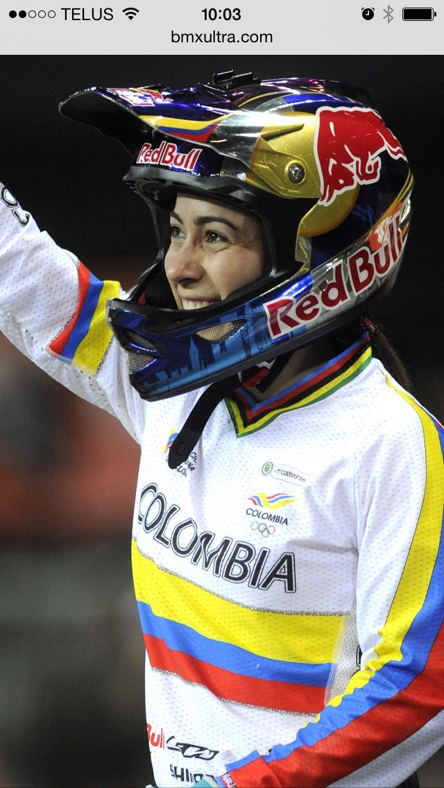 CAMPEONA MARIANA PAJON Campeon Colombia en BMX Elite Femenina/Holanda Otra vez Mariana Campeona del MUNDO otra vez