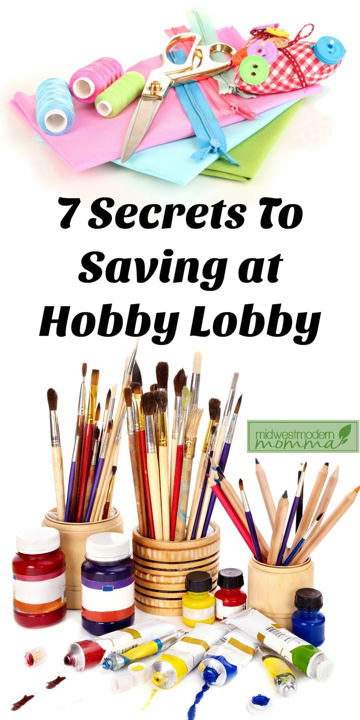 7 Ways To Save At Your Hobby Lobby Store ~ Do you love your local Hobby Lobby store for all of your crafting and craft supply needs? Or perhaps you aren't so crafty, and love it for home décor, candles, and framing. Whatever the case may be, there are plenty of ways to still get your Hobby Lobby fix in while saving some serious cash. Click to check out these 7 secrets to saving at Hobby Lobby today or repin to save for later!