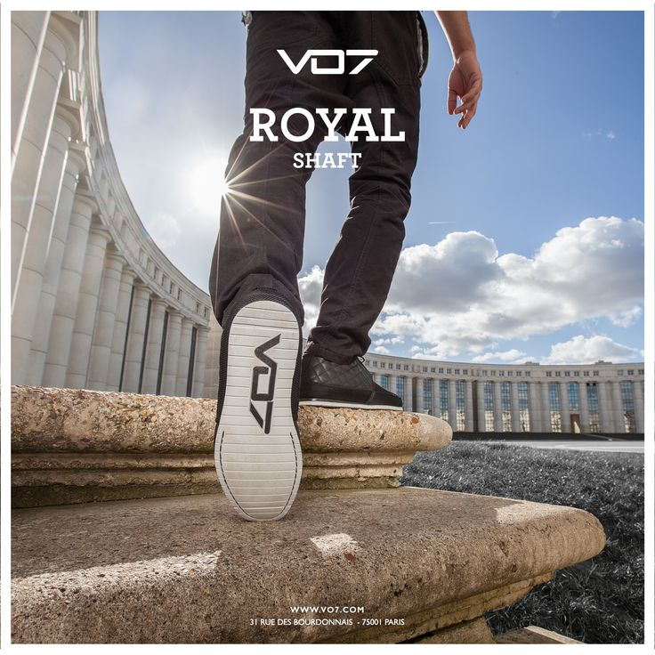 VO7 Royal Shaft Sneakers Black Streetchic leather