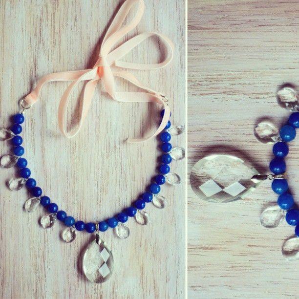 Колье из новой коллекции, лазурит, хрусталь, бархатная лента. Созданно в единственном экземпляре. #украшения #колье #красиво #натуральныекамни #синее #лазурит #хрусталь #тренд #мода #ручнаяработа #арт #дизайн #дизайнерское #эксклюзив #уникальное #jewelry #kusya #art #accessories #design #art #gems #blue #beauty #trend #Padgram