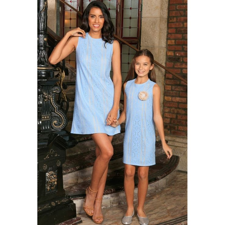 Epethiya proudly presents: Baby Blue Crochet... available here: http://epethiya.com/products/baby-blue-crochet-lace-sleeveless-day-spring-shift-mommy-and-me-dress?utm_campaign=social_autopilot&utm_source=pin&utm_medium=pin