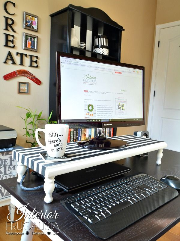 How to make an easy DIY Computer Monitor Stand for less than $10.