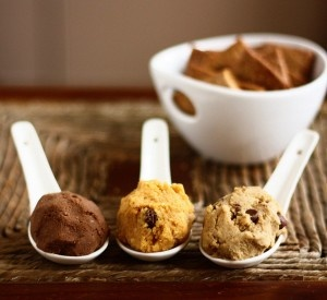 3 dessert hummus recipes: cookie dough hummus, chocolate hummus and carrot cake hummus