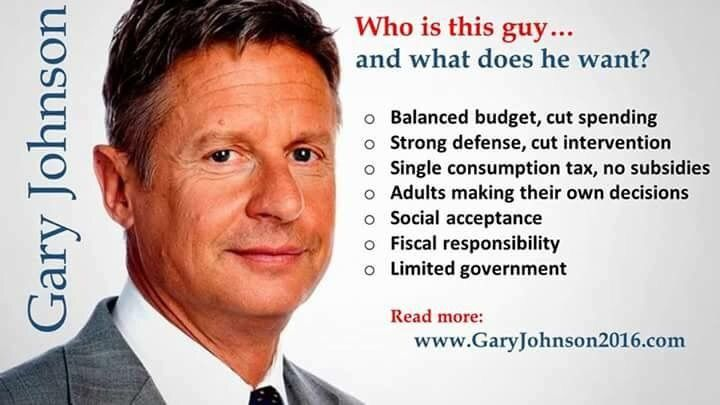 Please submit and upvote information about Gary Johnson like crazy. I'm not even a Libertarian, but I'm so terrified of a Trump-Clinton choice. So many Americans are dissatisfied with the current candidates. We need to get Gov. Johnson's name out there!