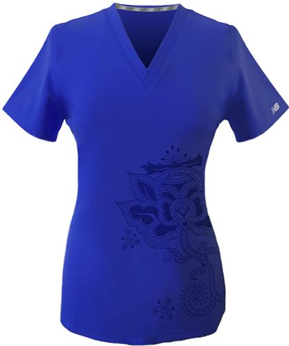 Kismet Placement Print Scrub Top by #NewBalance #uniforms.