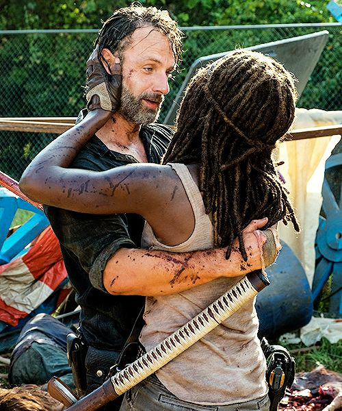 The Walking Dead 7x12 'Say Yes' Rick Grimes and Michonne