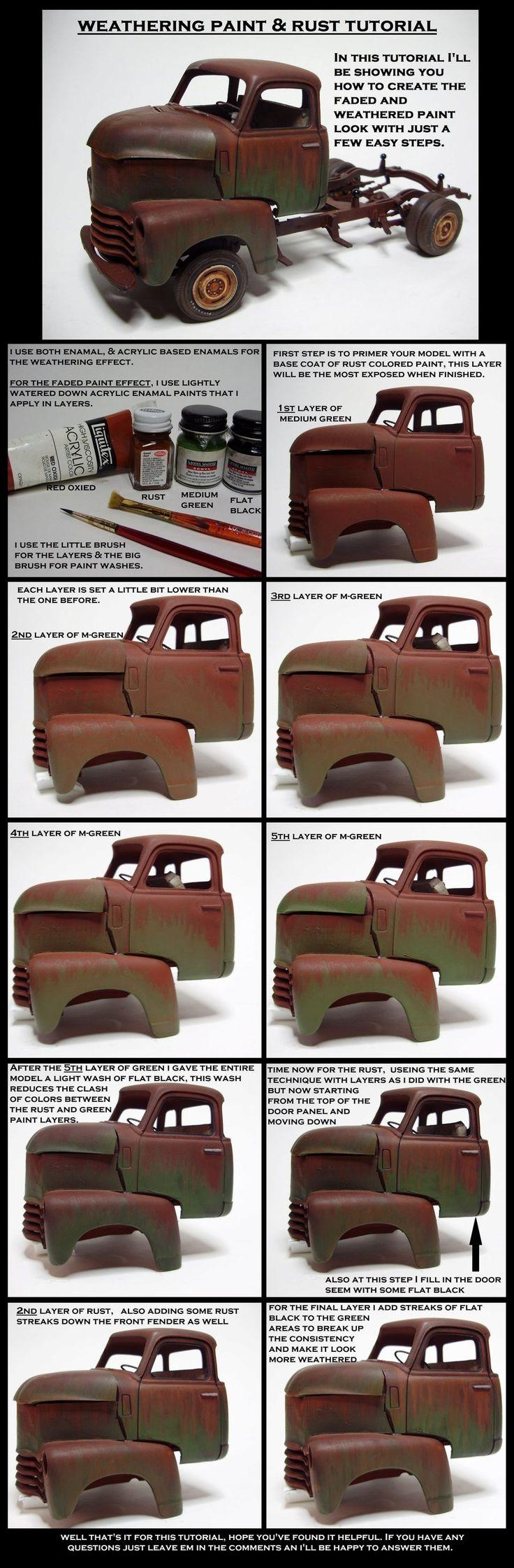 weathering paint an rust tutorial by devilsreject493.deviantart.com on @DeviantArt